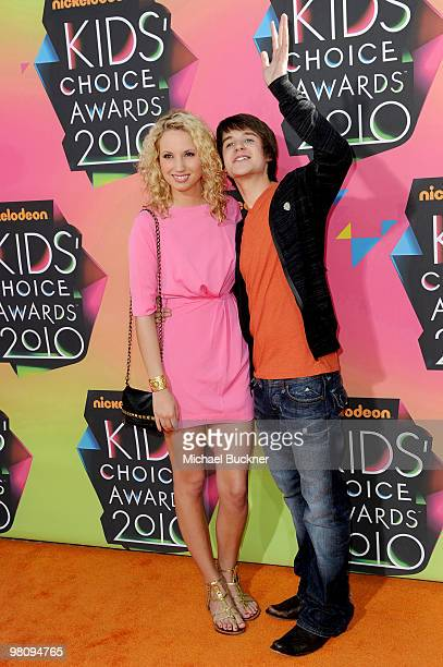 Actor Devon Werkheiser and actress Molly McCook arrive at Nickelodeon's 23rd Annual Kids' Choice Awards held at UCLA's Pauley Pavilion on March 27...