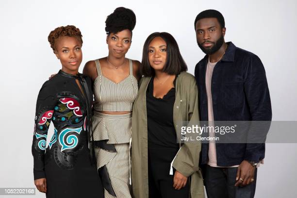 Actor DeWanda Wise actress Sasheer Zamata director Stella Meghie and Y'lan Noel from 'The Weekend' are photographed for Los Angeles Times on...