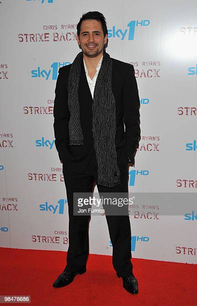 Actor Dhafer L'Abidine attends the special premiere of Sky One's 'Strike Back' at the Vue West End on April 15 2010 in London England