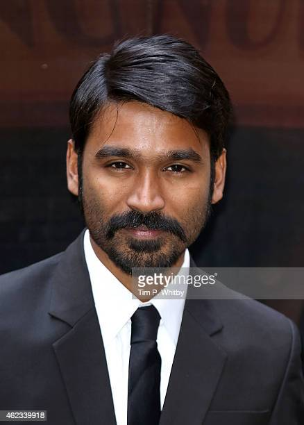 Actor Dhanush attends a photocall for 'Shamitabh' at St James Court Hotel on January 27 2015 in London England