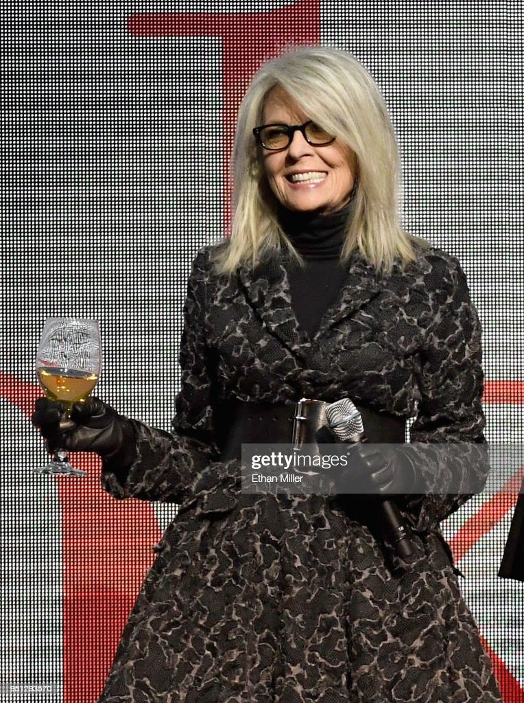 Actor Diane Keaton speaks onstage during the CinemaCon 2018 Paramount Pictures Presentation Highlighting Its Summer of 2018 and Beyond at The Colosseum at Caesars Palace during CinemaCon, the official convention of the National Association of Theatre Owners, on April 25, 2018 in Las Vegas, Nevada.