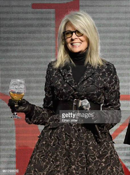 Actor Diane Keaton speaks onstage during the CinemaCon 2018 Paramount Pictures Presentation Highlighting Its Summer of 2018 and Beyond at The...