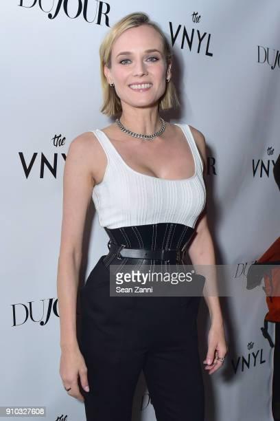 Actor Diane Kruger attends DuJour's Jason Binn Celebrates Winter Cover Star Diane Kruger at Vnyl on January 25 2018 in New York City