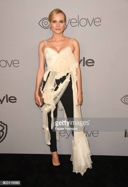 Actor Diane Kruger attends the 19th Annual PostGolden Globes Party hosted by Warner Bros Pictures and InStyle at The Beverly Hilton Hotel on January...