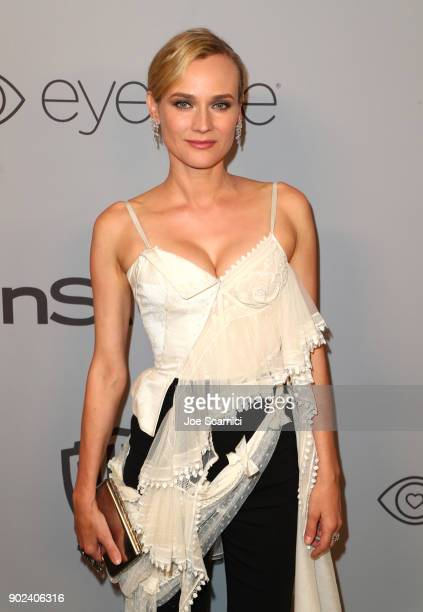 Actor Diane Kruger attends the 2018 InStyle and Warner Bros 75th Annual Golden Globe Awards PostParty at The Beverly Hilton Hotel on January 7 2018...
