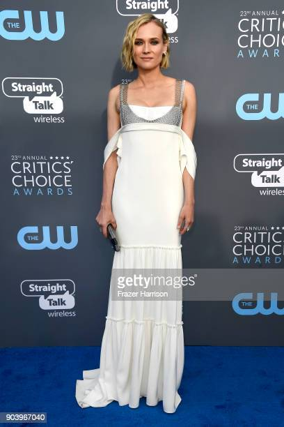 Actor Diane Kruger attends The 23rd Annual Critics' Choice Awards at Barker Hangar on January 11 2018 in Santa Monica California