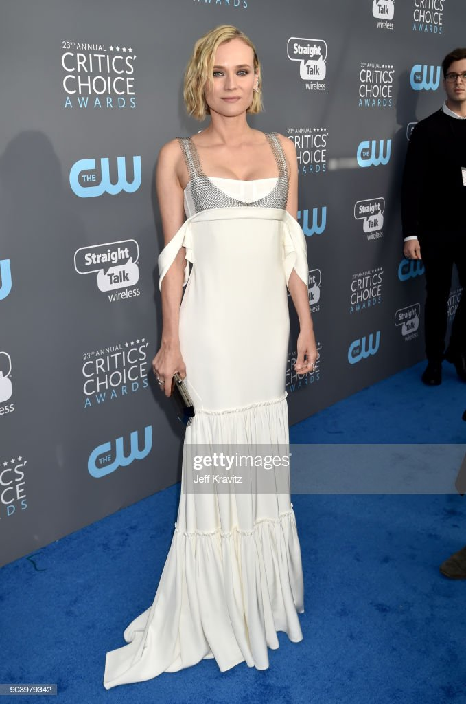 Actor Diane Kruger attends The 23rd Annual Critics' Choice Awards at Barker Hangar on January 11, 2018 in Santa Monica, California.