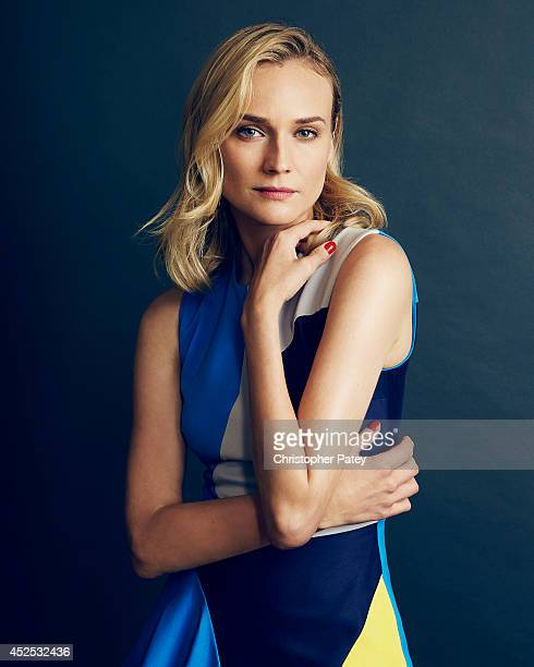 Actor Diane Kruger poses for a portrait session at the summer Television Critics Association for the FX network on July 21 2014 in Beverly Hills...