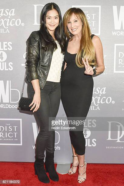 Actor Dianne Doan and producer Cindy Cowan attends WORLDboots official Launch Party supporting Souls 4 Soles Charity at The District by Hannah An on...