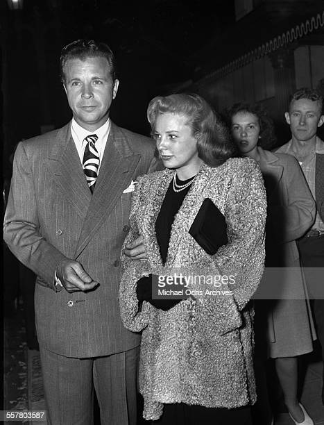 Actor Dick Powell and wife actress June Allyson attends an event in Los Angeles California