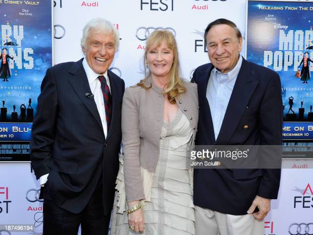 Actor Dick Van Dyke actress Karen Dotrice and composer Richard Sherman attend Mary Poppins 50th Anniversary Commemoration Screening at AFI Fest at...