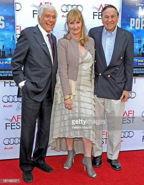 Actor Dick Van Dyke actress Karen Dotrice and Richard M Sherman composer attend the 50th anniversary commemoration screening of Disney's Mary Poppins...