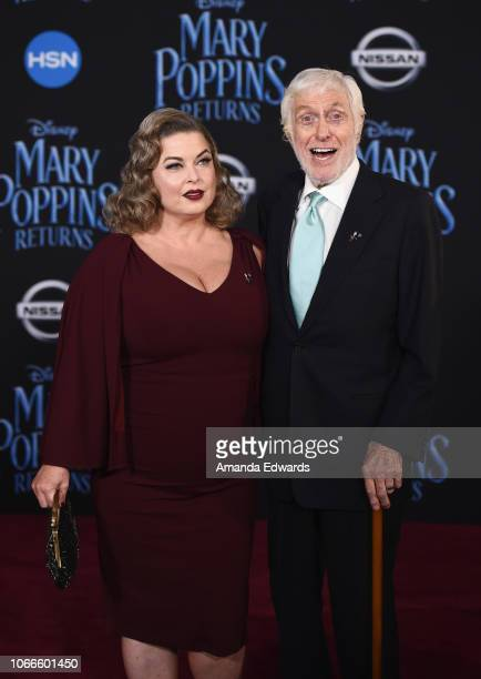 Actor Dick Van Dyke and Arlene Silver arrive at the premiere of Disney's 'Mary Poppins Returns' at the El Capitan Theatre on November 29 2018 in Los...