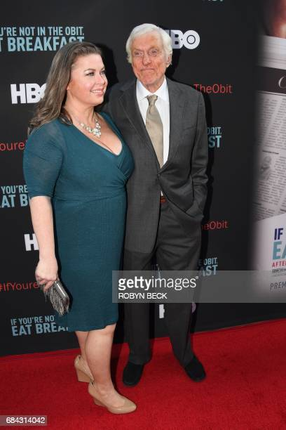 Actor Dick Van Dyke and his wife Arlene Silver attend the premiere of the HBO documentary If Youre Not In the Obit Eat Breakfast May 17 2017 at the...