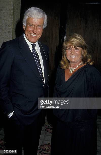 Actor Dick Van Dyke and Michelle Triola attend CBS TV Affiliates Party on June 14 1988 at the Century Plaza Hotel in Century City California