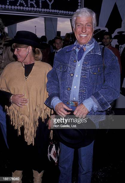Actor Dick Van Dyke and Michelle Triola attend Share Boomtown Party on May 20 1989 at the Santa Monica Civic Auditorium in Santa Monica California
