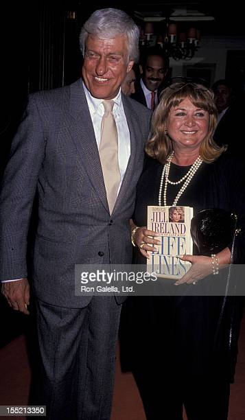 Actor Dick Van Dyke and Michelle Triola attend the book party for Life Lines on April 12 1989 at Bistro Restaurant in Beverly Hills California