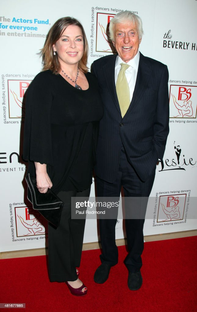 Actor Dick Van Dyke (R) and wife Arlene Silver attending the Professional Dancers Society's 27th Annual Gypsy Award Luncheon at The Beverly Hilton Hotel on March 30, 2014 in Beverly Hills, California.