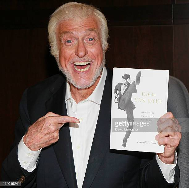 "Actor Dick Van Dyke attends a signing for his book ""My Lucky Life In and Out of Show Business"" at Barnes & Noble Booksellers at The Grove on May 10,..."