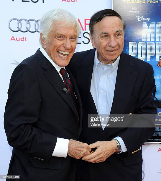Actor Dick Van Dyke composer Richard M Sherman attend the 50th anniversary commemoration screening of Disney's 'Mary Poppins' during AFI FEST 2013...