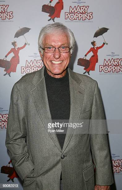 Actor Dick Van Dyke who played the role of Bert in the original Disney film poses during the arrivals for the opening night performance of Disney and...