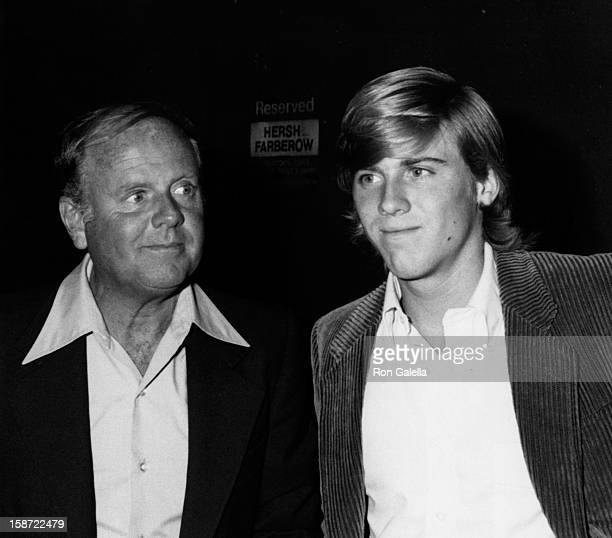 Actor Dick Van Patten and Vince Van Patten attend the taping of The Merv Griffin Show on March 3 1980 at TAV Studios in Hollywood California