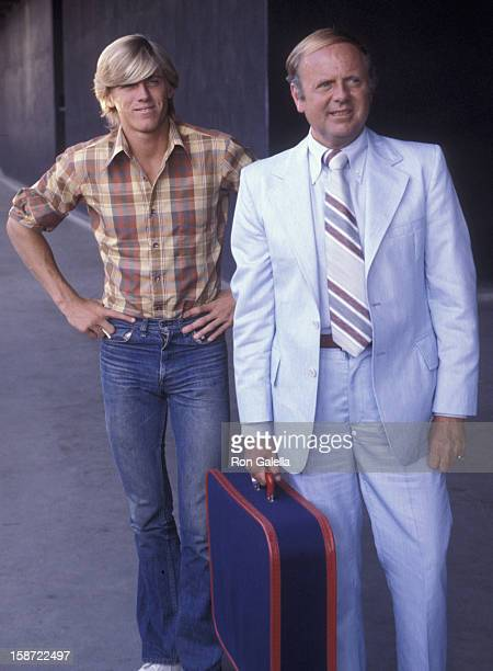 Actor Dick Van Patten and Vince Van Patten attend the taping of The Dinah Shore Show on April 10 1978 at CBS TV Studios in Hollywood California