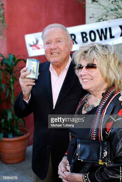 Actor Dick Van Patten and wife Patti arrive at the Super Bowl Bash at Spago at Wolfgang Puck's Spago restaurant February 4 2007 in Beverly Hills...