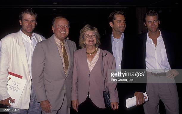 Actor Dick Van Patten wife Patricia Van Patten James Van Patten Vince Van Patten and Nels Van Patten attend Mother's Day Madness on May 10 1992 at...