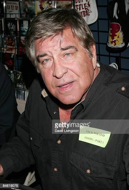 Actor Dick Wieand attends Anchor Bay Entertainment's Jason Voorhees reunion at Dark Delicacies Bookstore on February 3 2009 in Burbank California