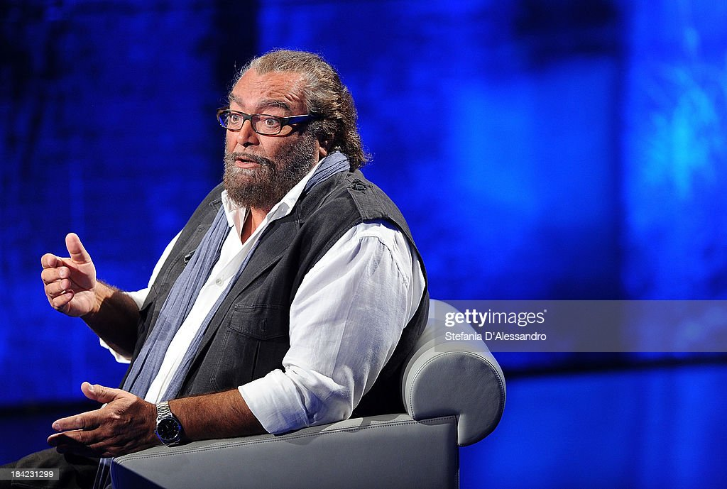 Actor Diego Abatantuono attends 'Che Tempo Che Fa' TV Show on October 12, 2013 in Milan, Italy.