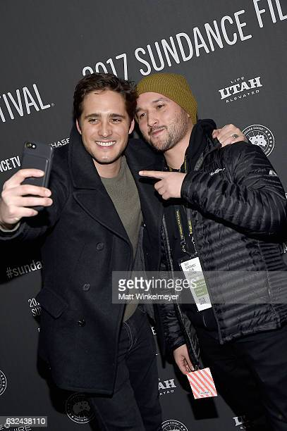Actor Diego Boneta and producer Adam Butterfield attend the 'Lemon' Premiere on day 4 of the 2017 Sundance Film Festival at Library Center Theater on...