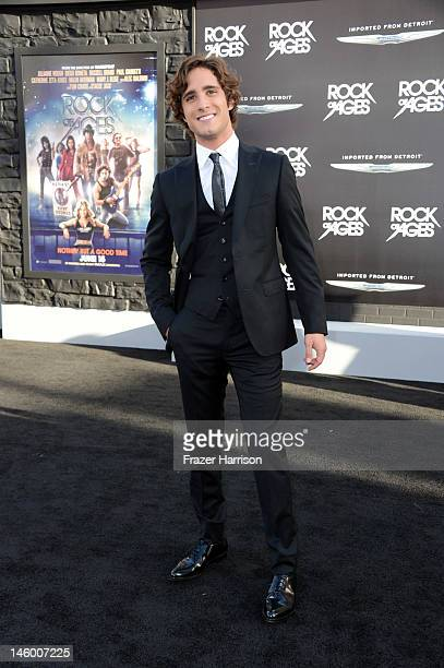 Actor Diego Boneta arrives at the premiere of Warner Bros Pictures' Rock of Ages at Grauman's Chinese Theatre on June 8 2012 in Hollywood California