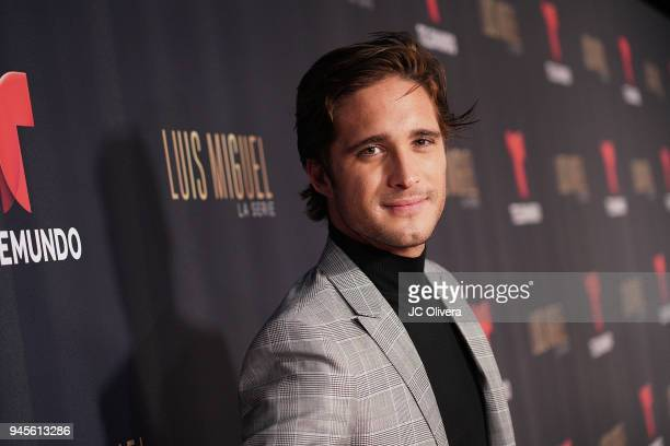 Actor Diego Boneta attends the screening of Telemundo's 'Luis Miguel La Serie' at a Private Residence on April 12, 2018 in Beverly Hills, California.