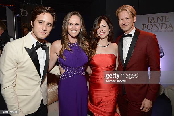 Actor Diego Boneta Executive Vice President Chief Operating Officer at Chello Latin America Marcello Coltro and guests attend the 2014 AFI Life...
