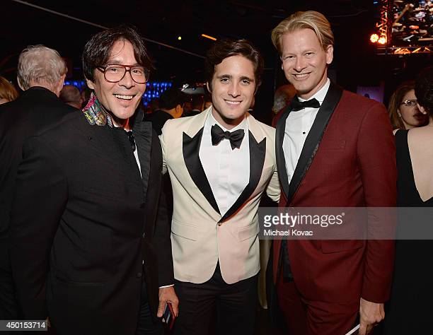 Actor Diego Boneta Executive Vice President Chief Operating Officer at Chello Latin America Marcello Coltro and guest attend the 2014 AFI Life...