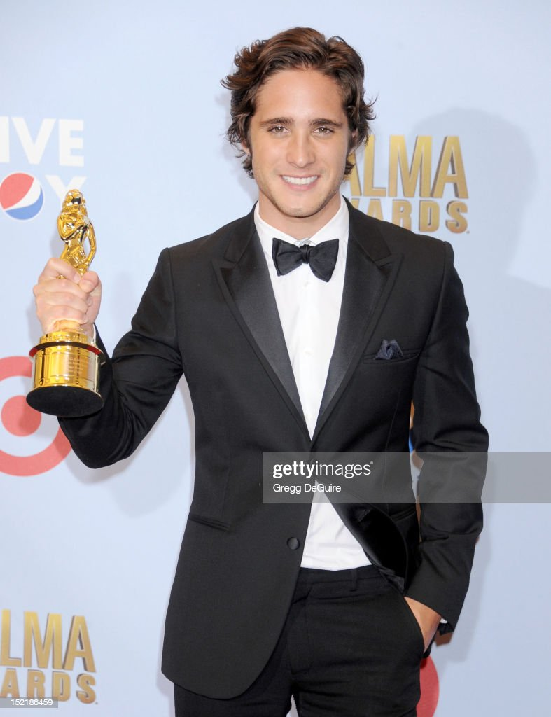 Actor Diego Boneta poses in the press room at the 2012 NCLR ALMA Awards at Pasadena Civic Auditorium on September 16, 2012 in Pasadena, California.
