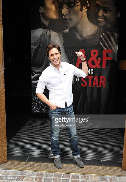 Actor Diego Boneta stops by the Abercrombie Fitch store at The Grove in Los Angeles to kick off the launch of their 'The Making of a Star' spring...