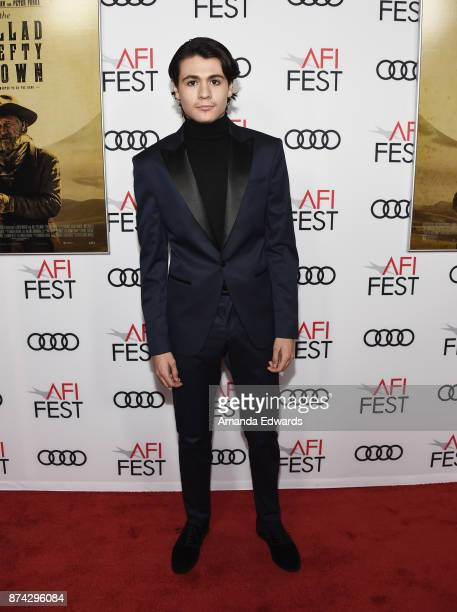 Actor Diego Josef arrives at the AFI FEST 2017 Presented By Audi screening of 'The Ballad Of Lefty Brown' at the Egyptian Theatre on November 14 2017...