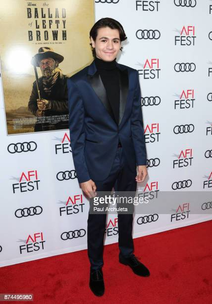 Actor Diego Josef attends the screening of 'Ballad Of Lefty Brown' for the AFI FEST 2017 presented by Audi at the Egyptian Theatre on November 14...