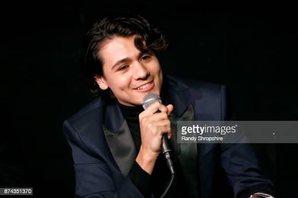 Actor Diego Josef speaks on stage during AFI Fest's Los Angeles premiere of The Ballad Of Lefty Brown on November 14 2017 in Los Angeles California