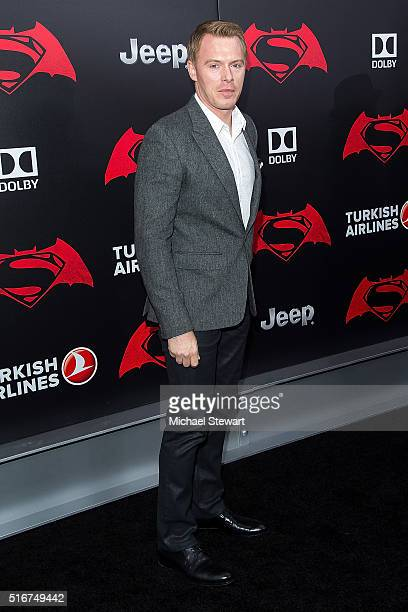 Actor Diego Klattenhoff attends the Batman V Superman Dawn Of Justice New York premiere at Radio City Music Hall on March 20 2016 in New York City