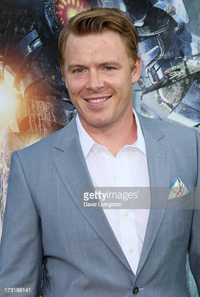 Actor Diego Klattenhoff attends the premiere of Warner Bros Pictures and Legendary Pictures' Pacific Rim at the Dolby Theatre on July 9 2013 in...