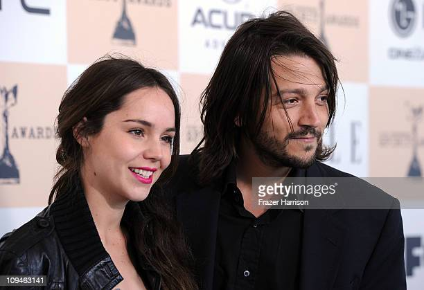 Actor Diego Luna and actress Camila Sodi arrive at the 2011 Film Independent Spirit Awards at Santa Monica Beach on February 26 2011 in Santa Monica...