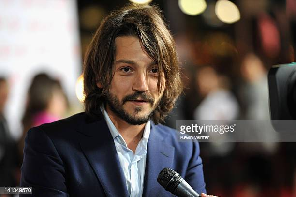 Actor Diego Luna arrives at Premiere of Pantelion Films' Casa De Mi Padre at Grauman's Chinese Theatre on March 14 2012 in Hollywood California