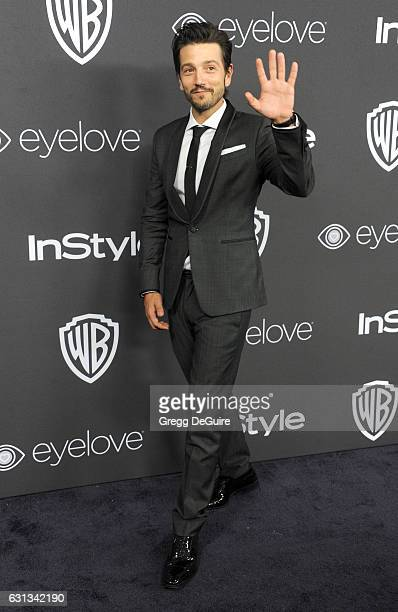 Actor Diego Luna arrives at the 18th Annual PostGolden Globes Party hosted by Warner Bros Pictures and InStyle at The Beverly Hilton Hotel on January...
