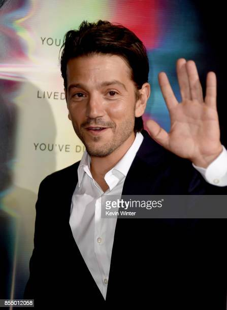 Actor Diego Luna arrives at the premiere of Columbia Pictures' Flatliners at the Ace Theatre on September 27 2017 in Los Angeles California