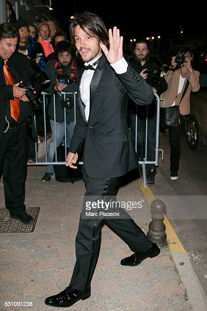 Actor Diego Luna arrives to attend the 'Vanity Fair and Chanel' party during the annual 69th Cannes Film Festival at Tetou restaurant on May 12 2016...