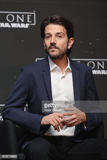 Actor Diego Luna attends a press conference and photocall to promote the film Rogue One A Star Wars Story at St Regis Hotel on November 22 2016 in...