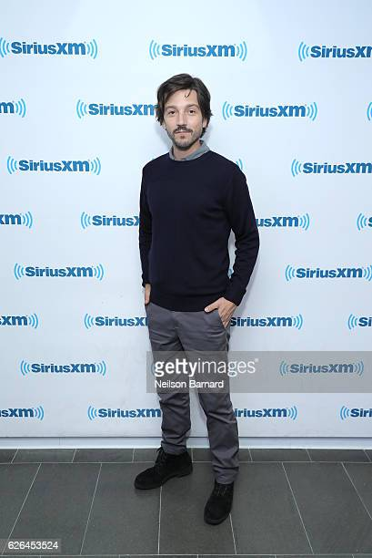 Actor Diego Luna attends SiriusXM's Town Hall With The Cast Of 'Rogue One A Star Wars Story' Town Hall to air on SiriusXM's Entertainment Weekly...